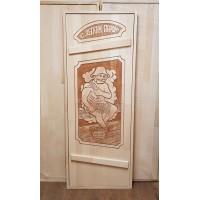 """Дверь для бани (массив липы) """"Банщик"""""""