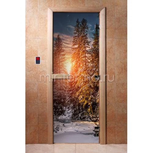 Дверь для бани А093 (стекло)