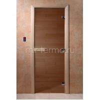 """Дверь для бани """"Бронза 8мм""""(стекло)"""