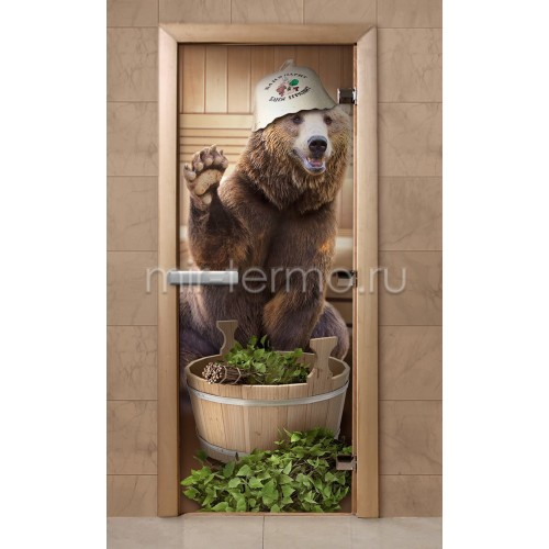 Дверь для бани f205 (стекло)