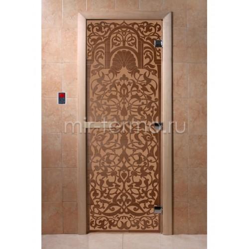 """Дверь для бани """"Флоренция бронза матовая"""" (стекло)"""