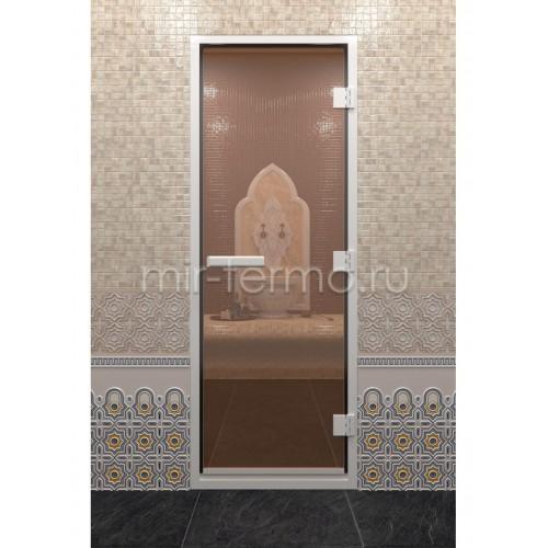 "Дверь для турецкой бани ""Хамам бронза"" (стекло)"