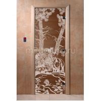 """Дверь для бани """"Мишки бронза"""" (стекло)"""