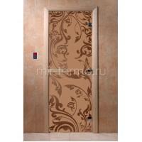 """Дверь для бани """"Венеция бронза матовая"""" (стекло)"""