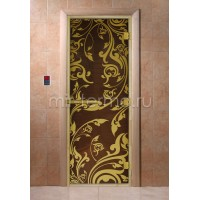 "Дверь для бани ""Венеция бронза Luxury Gold"" (стекло)"