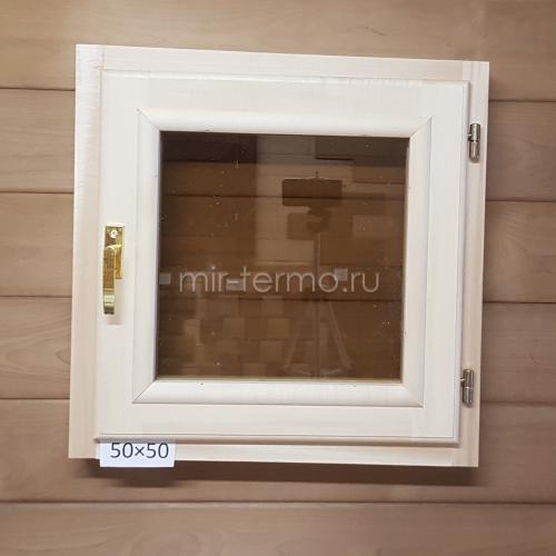 Окно из Липы 50 на 50